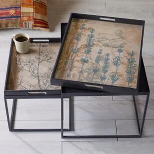 BOTANIQUE TRAY NESTING TABLES, SET OF 2