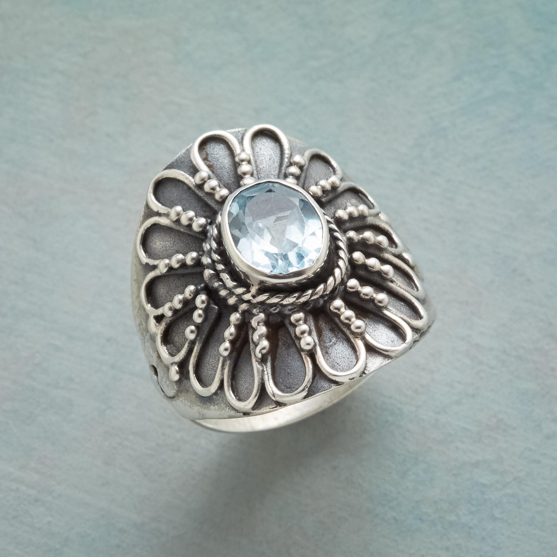 BLUE SUNFLOWER RING: View 1