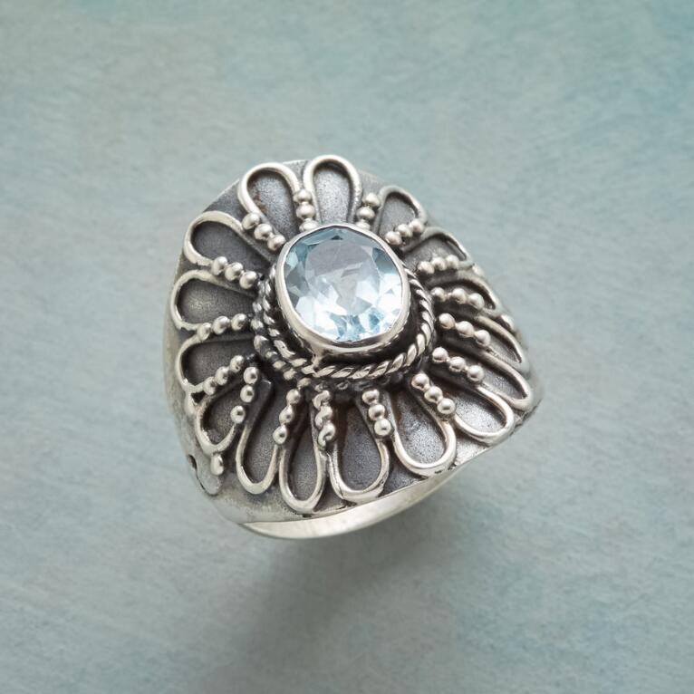 BLUE SUNFLOWER RING