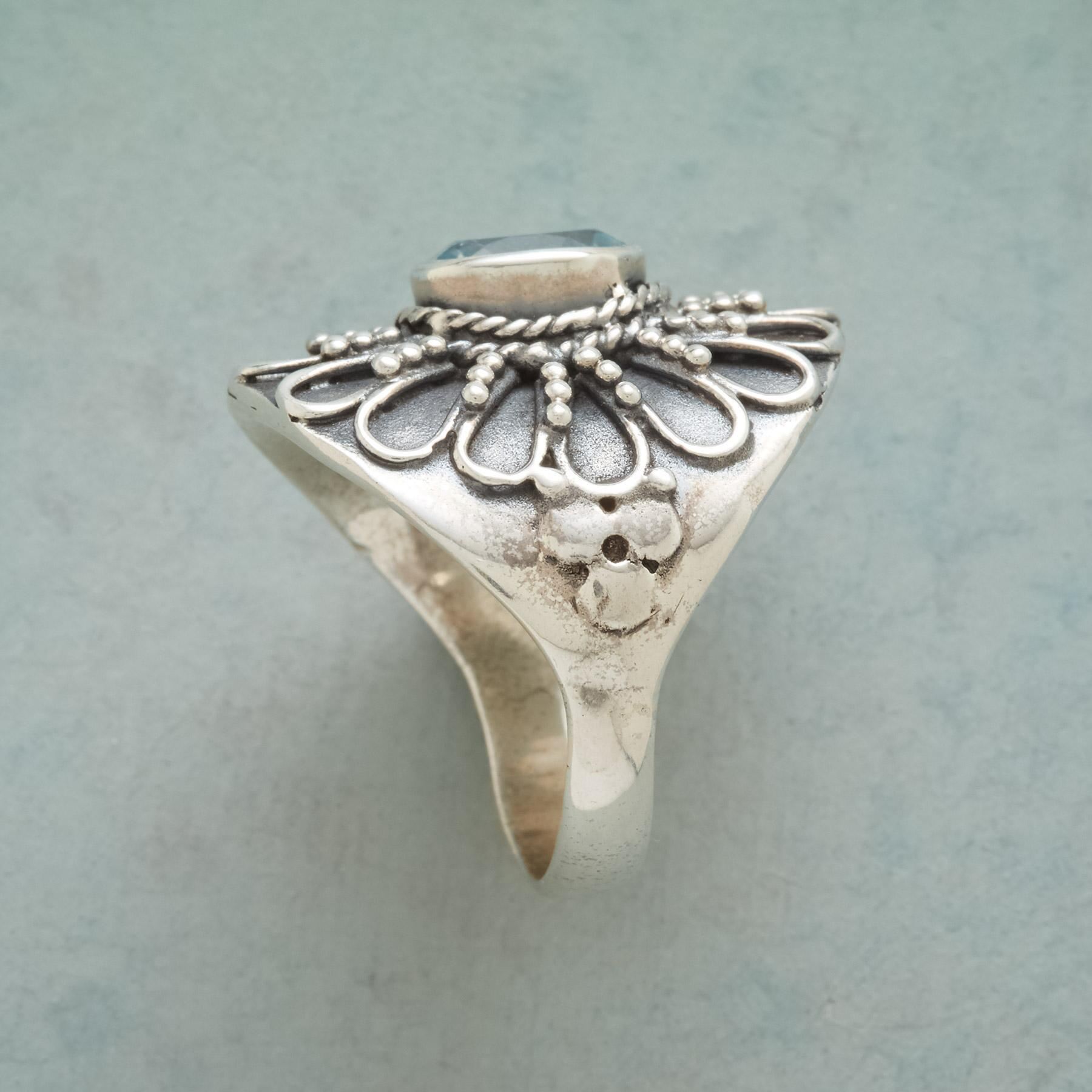 BLUE SUNFLOWER RING: View 2