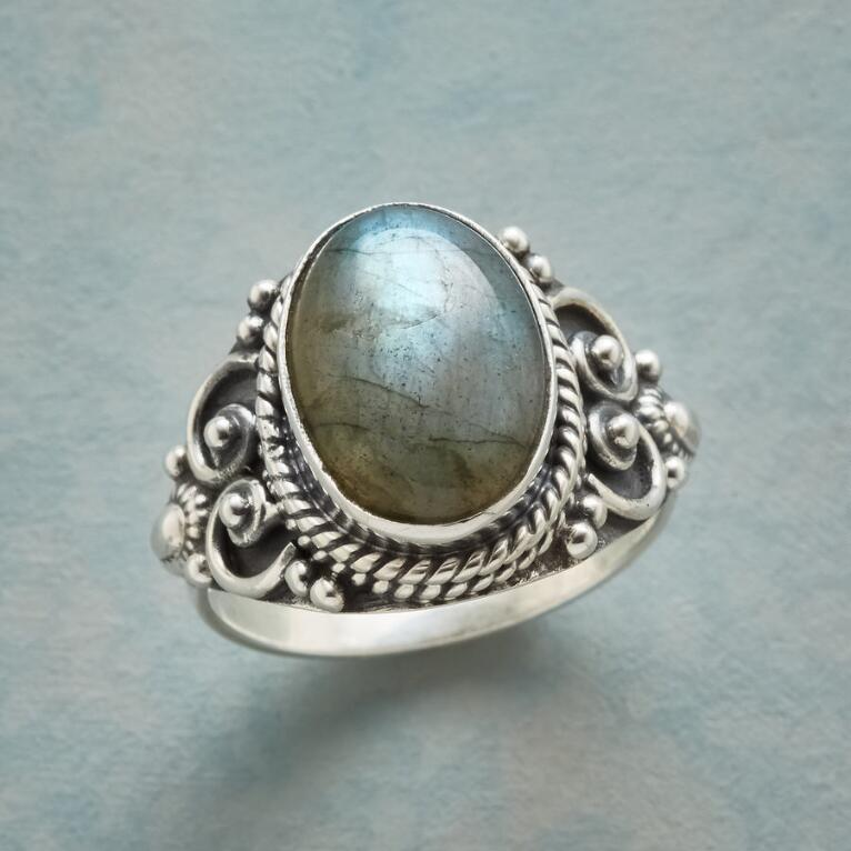 LARGER THAN LABRADORITE RING
