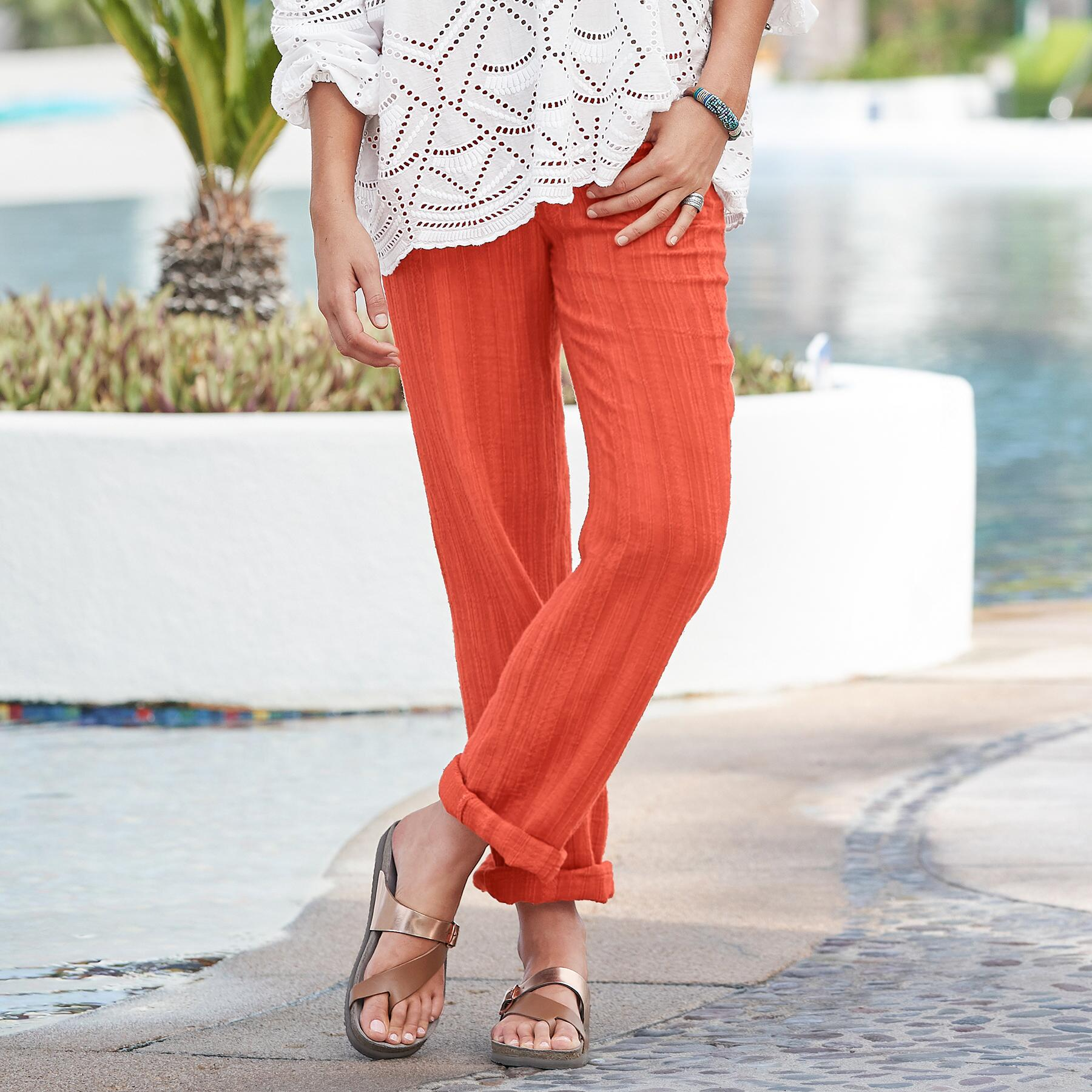 CORAL SOLID GIGI PANTS: View 1