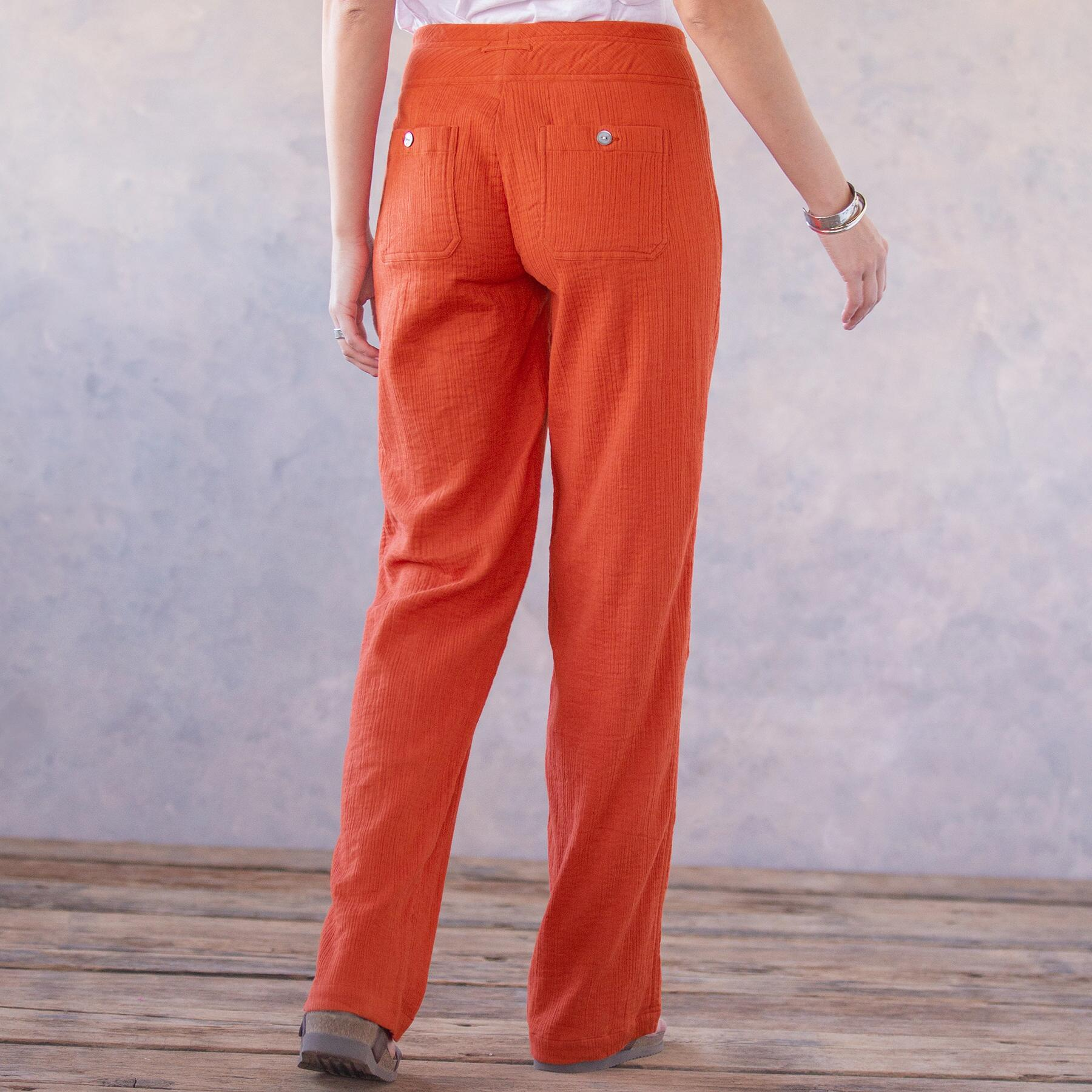 CORAL SOLID GIGI PANTS: View 2
