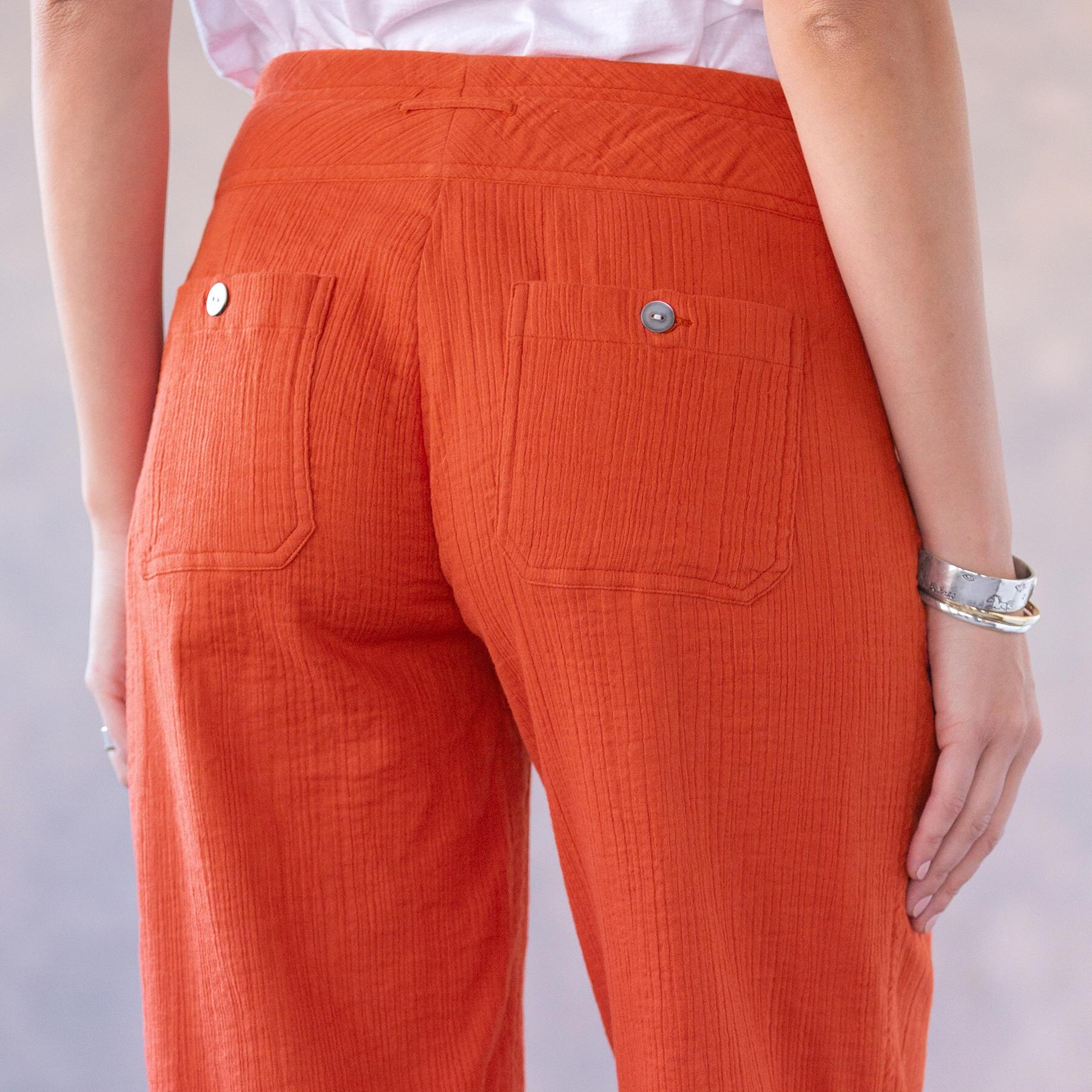 CORAL SOLID GIGI PANTS: View 3
