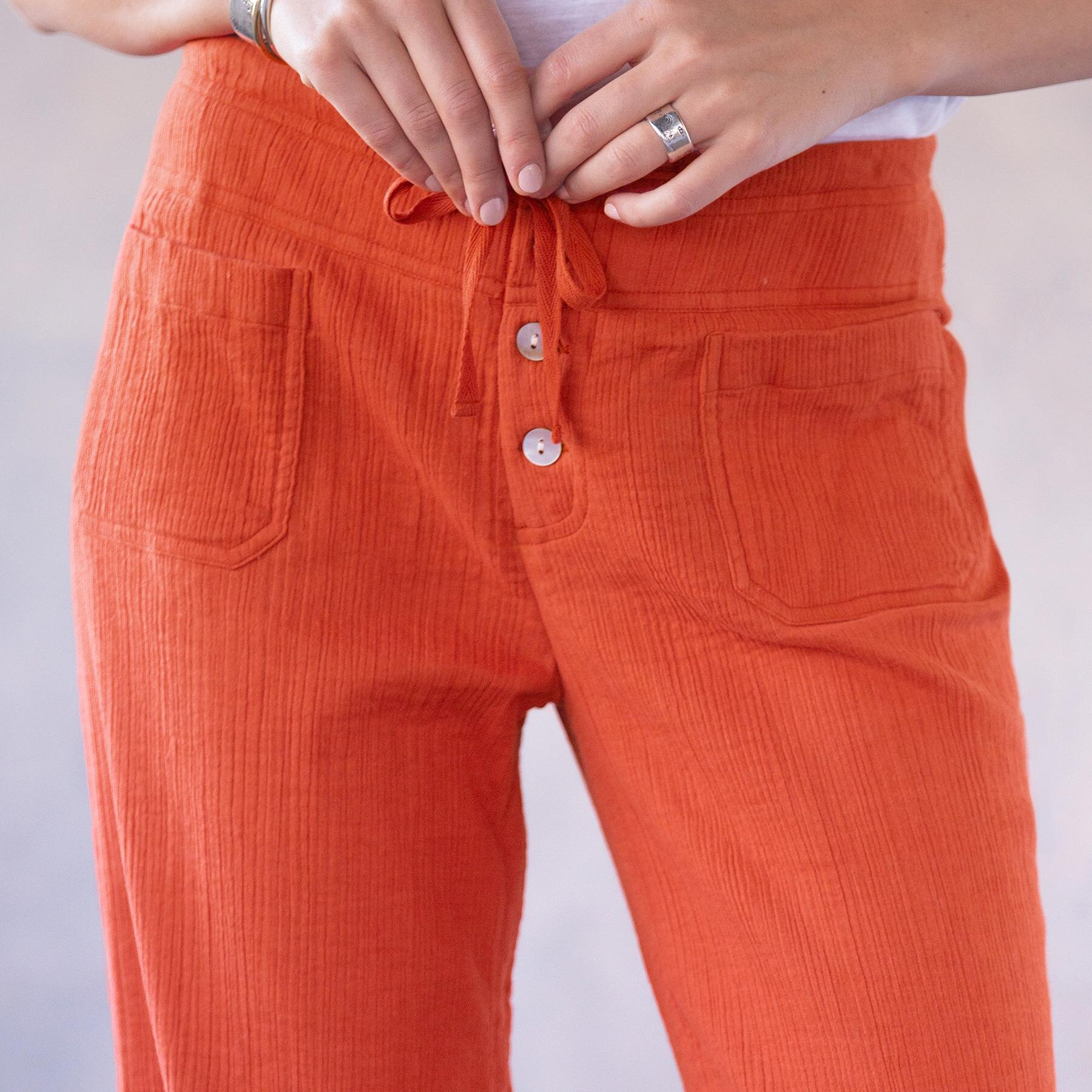 CORAL SOLID GIGI PANTS: View 4