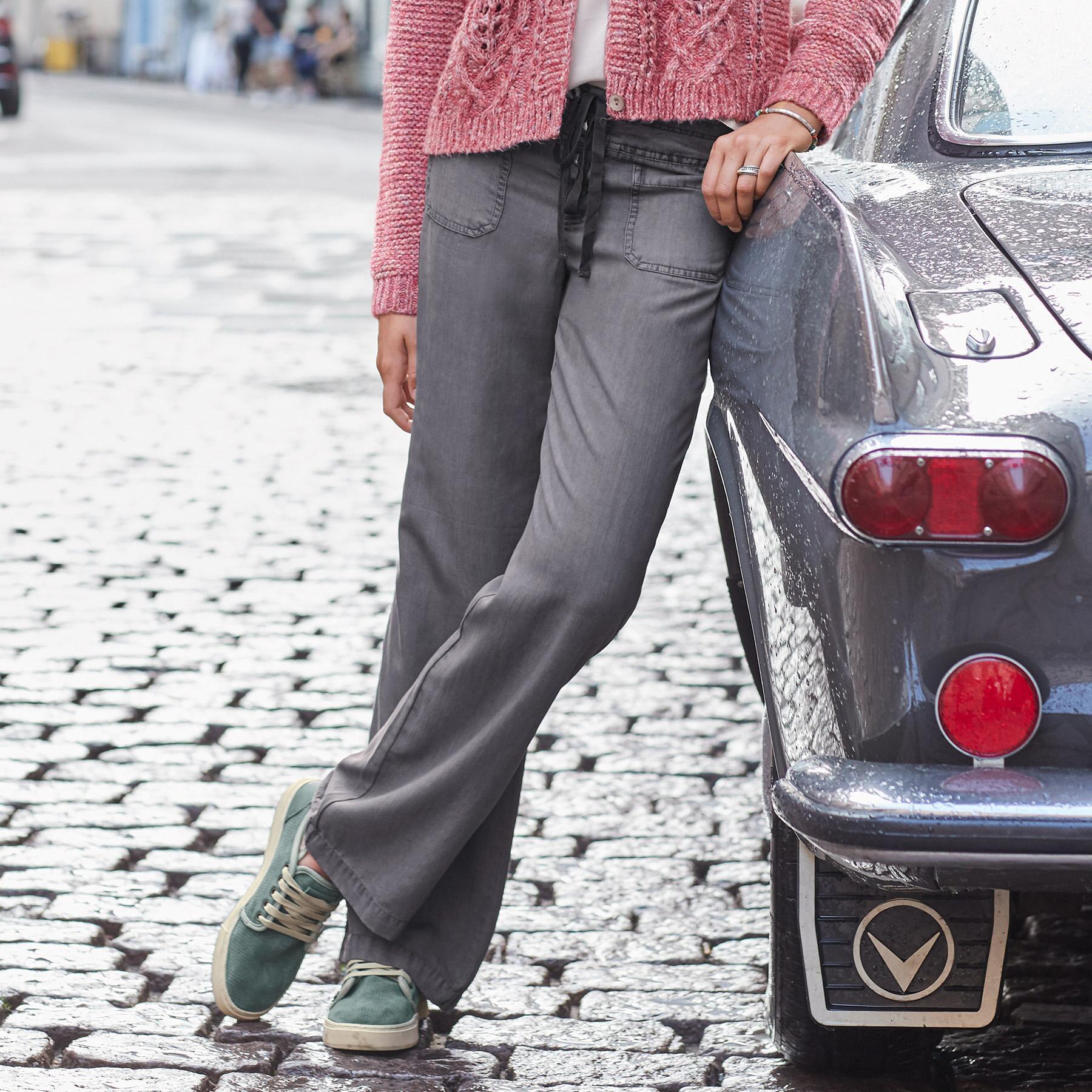 TENCEL® GIGI WIDE LEG PANTS - PETITES: View 1