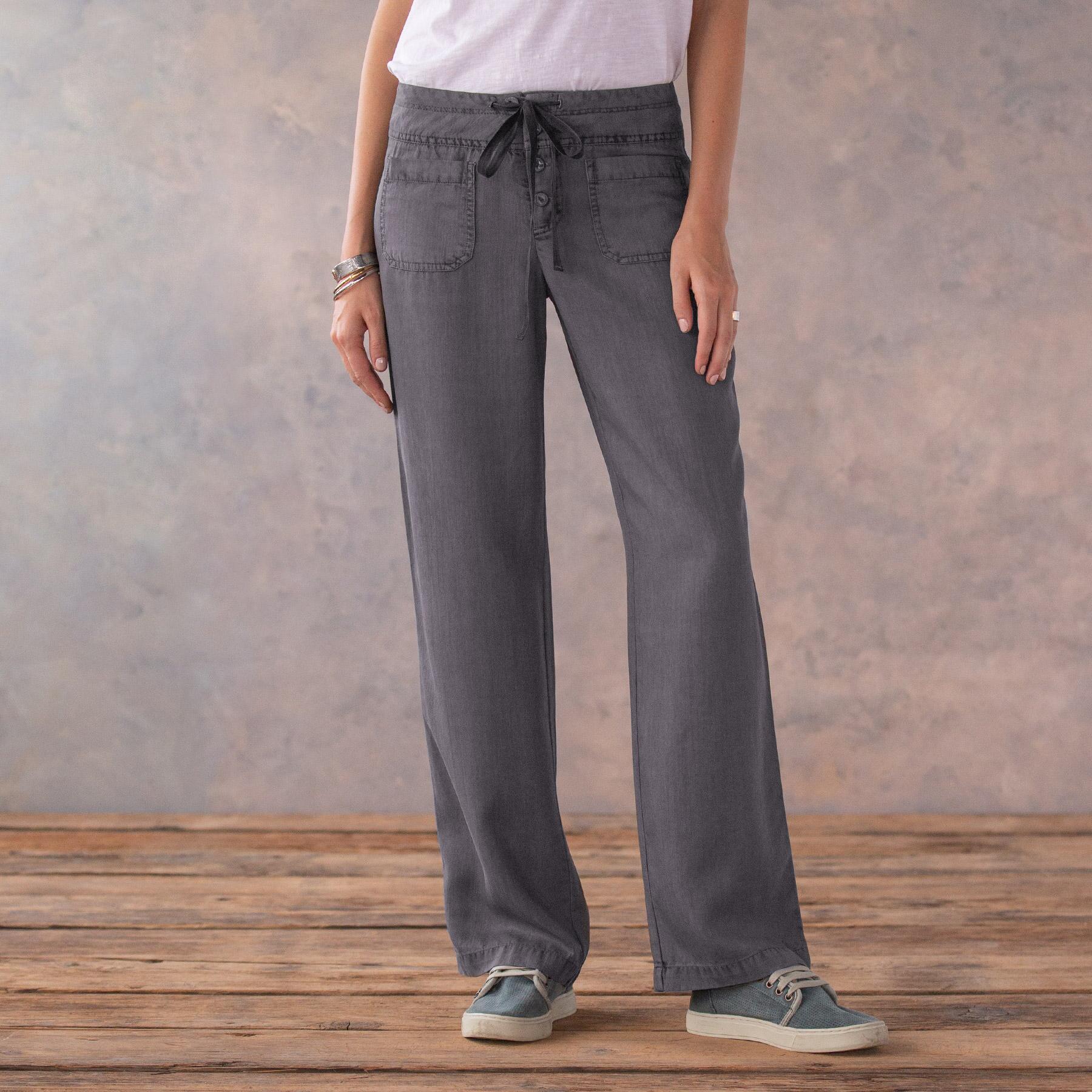 TENCEL® GIGI WIDE LEG PANTS - PETITES: View 2