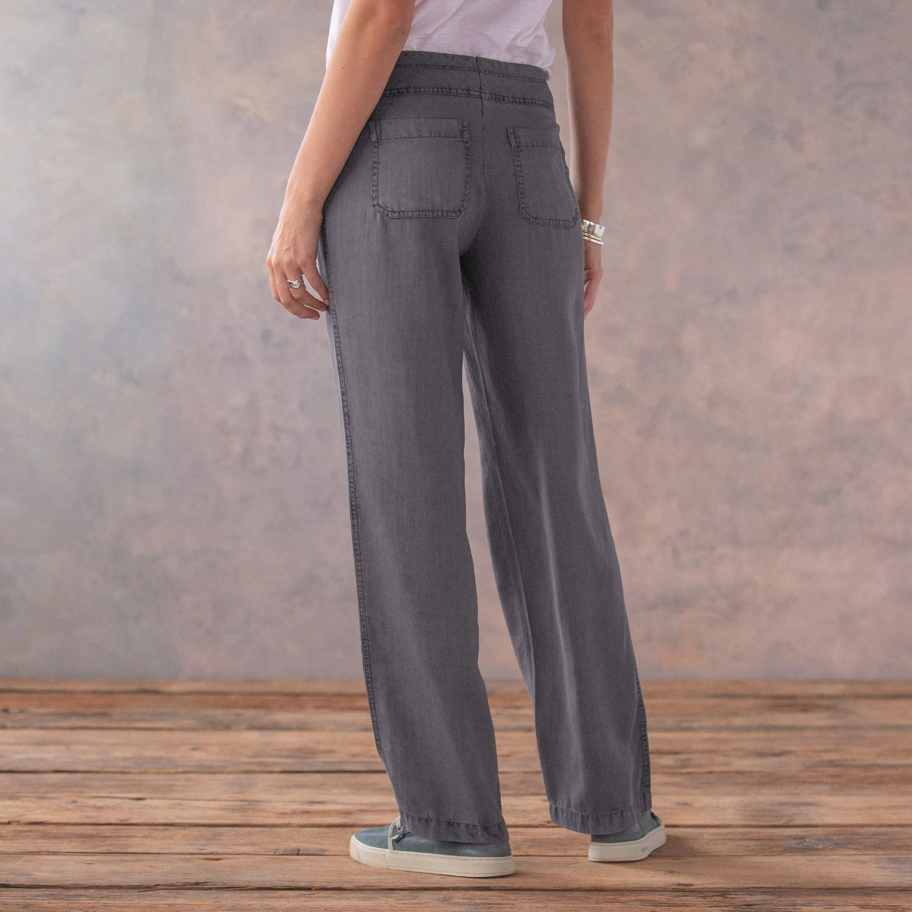 TENCEL® GIGI WIDE LEG PANTS - PETITES: View 3