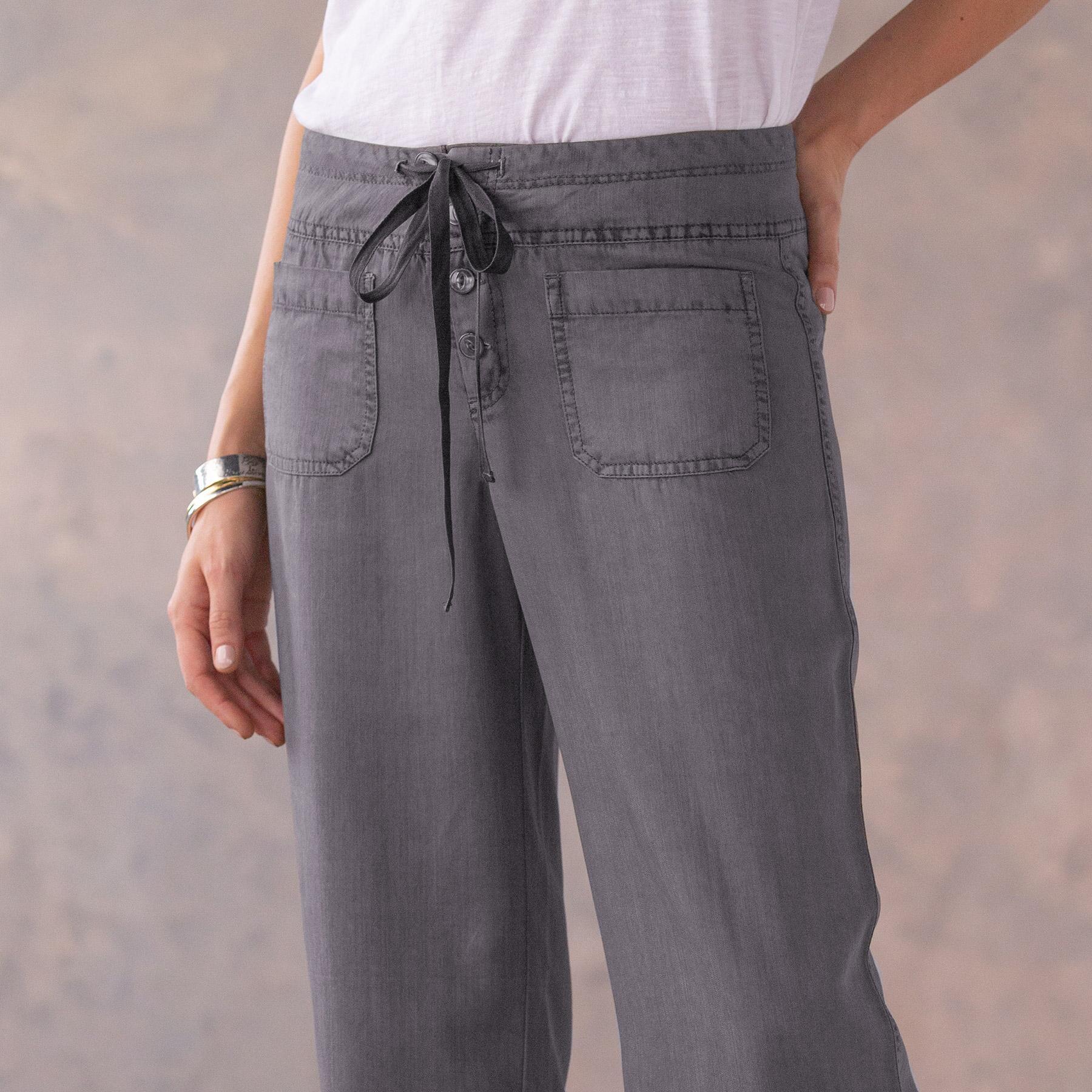 TENCEL® GIGI WIDE LEG PANTS - PETITES: View 4