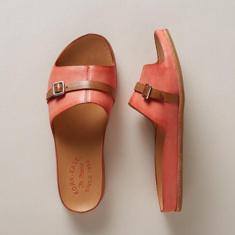 DOWNEY LEATHER BUCKLE SANDALS