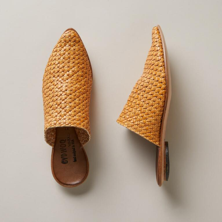 WOVEN ORIENT MULES - SOLID
