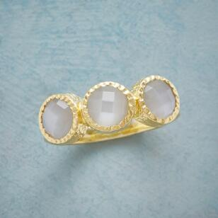 THREE MOONSTONES RING