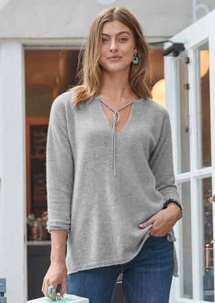 KENDALL CASHMERE PULLOVER - PETITES