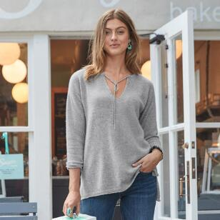 KENDALL CASHMERE PULLOVER PETITE
