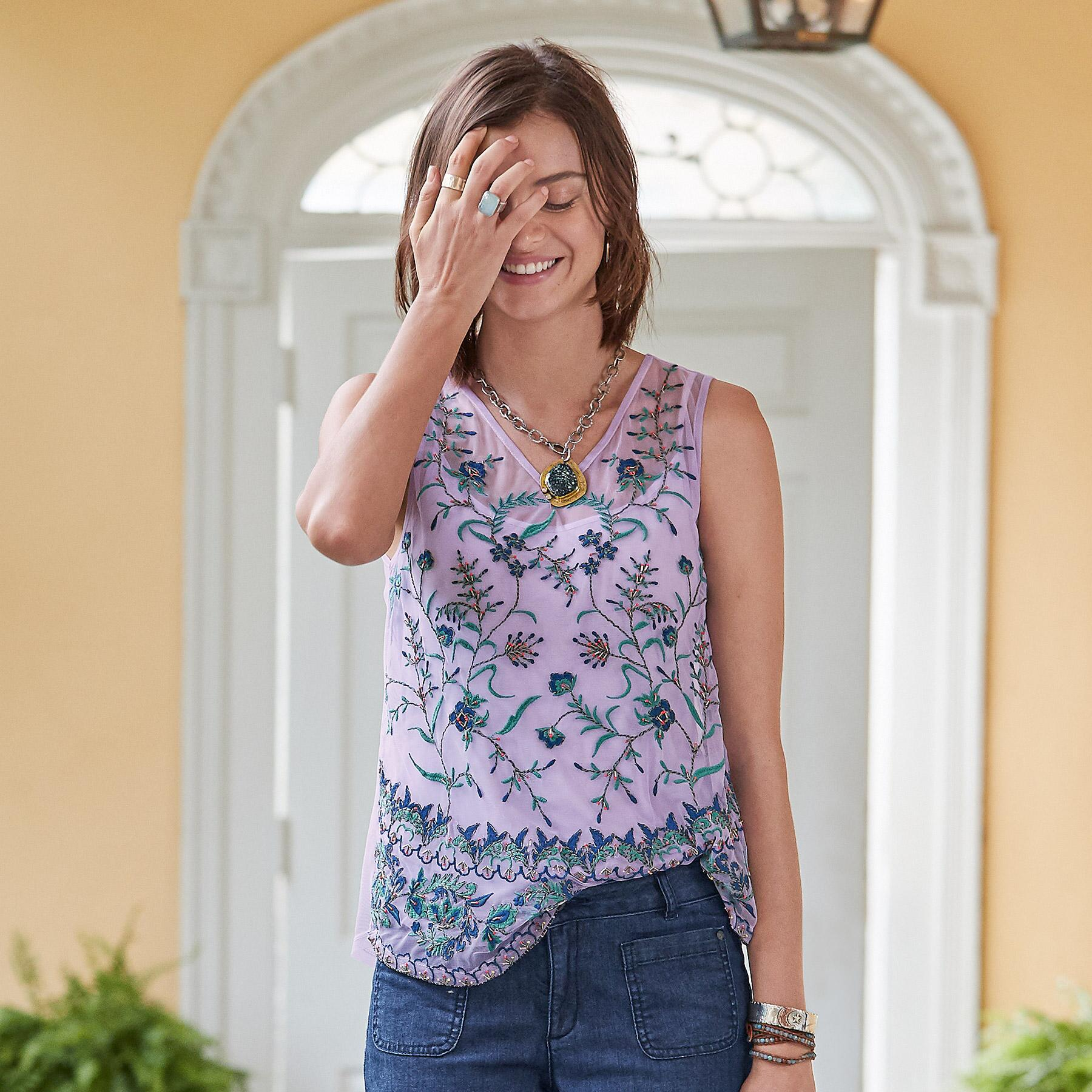 MEADOW FLORALS TANK: View 1