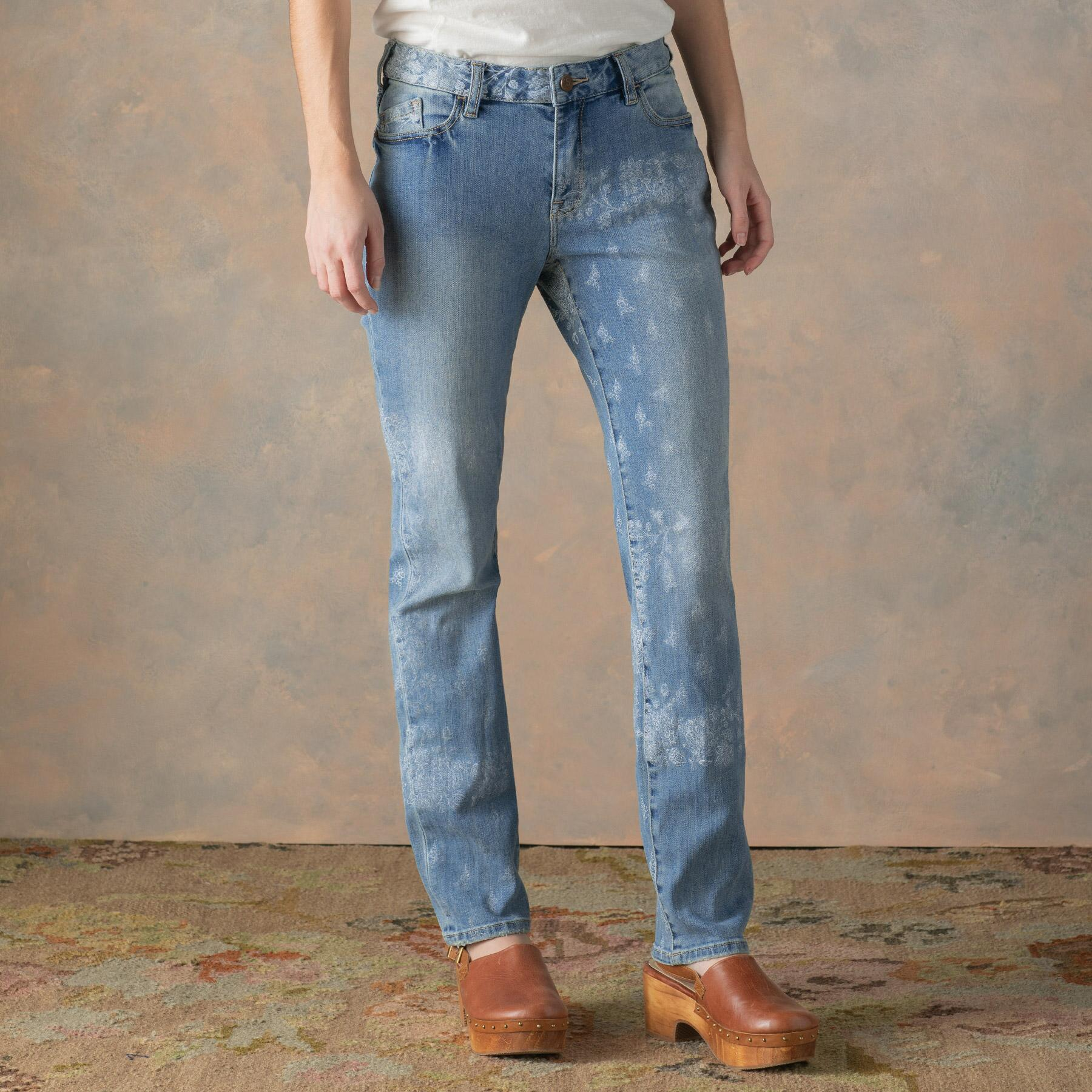BELLA ETCHED JEANS: View 1