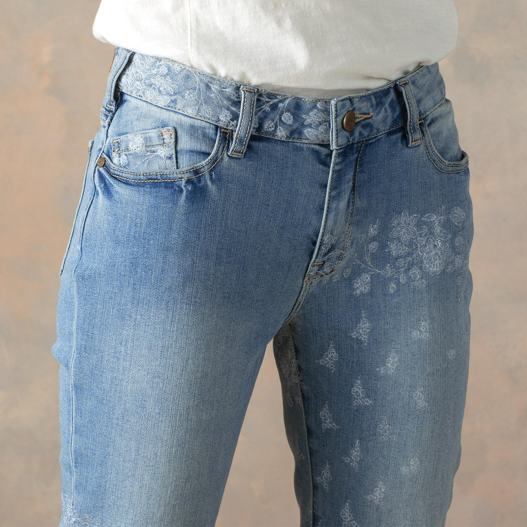 BELLA ETCHED JEANS: View 3