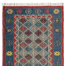 DENIM STARS DHURRIE RUG, LARGE