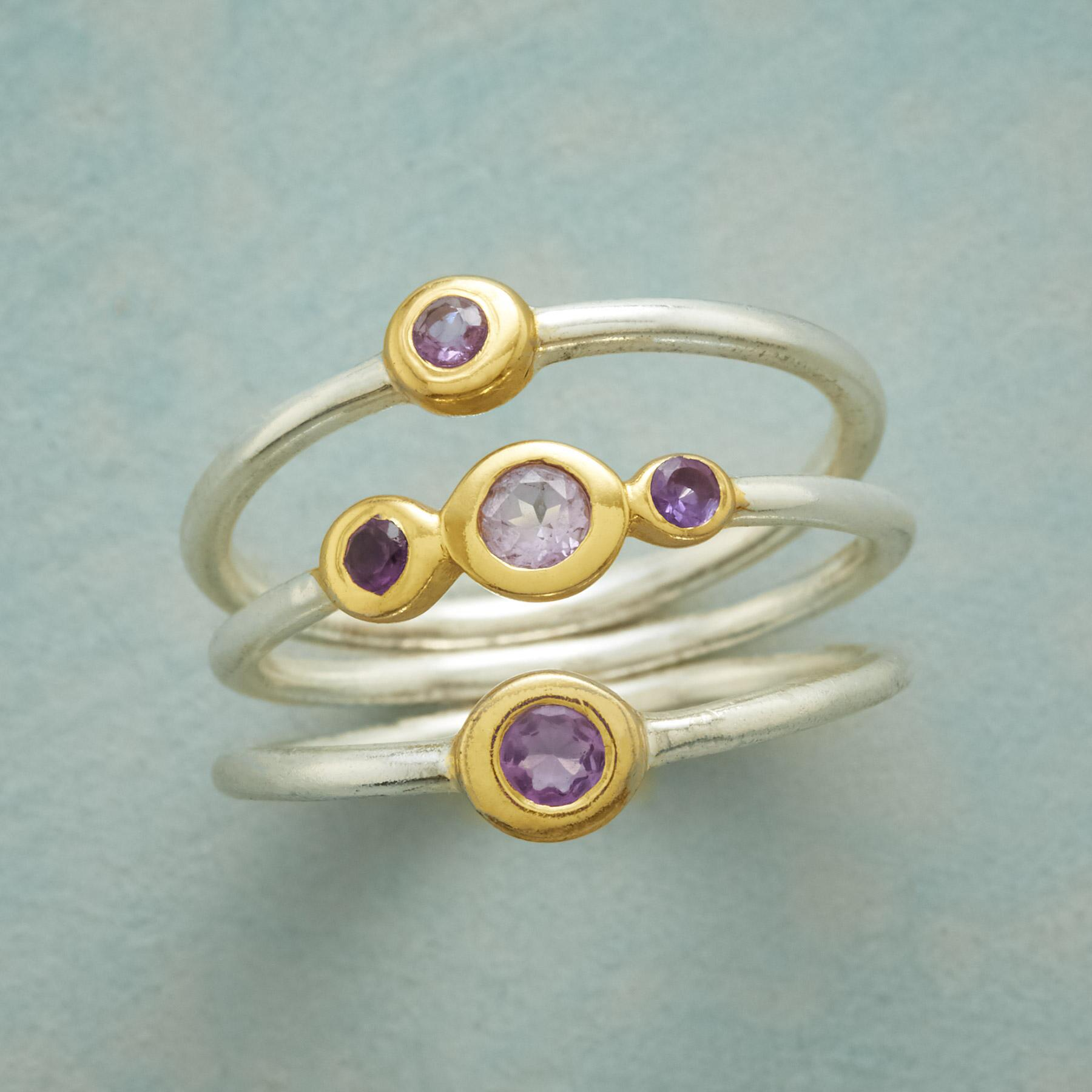LILAC FROLIC RING TRIO: View 1