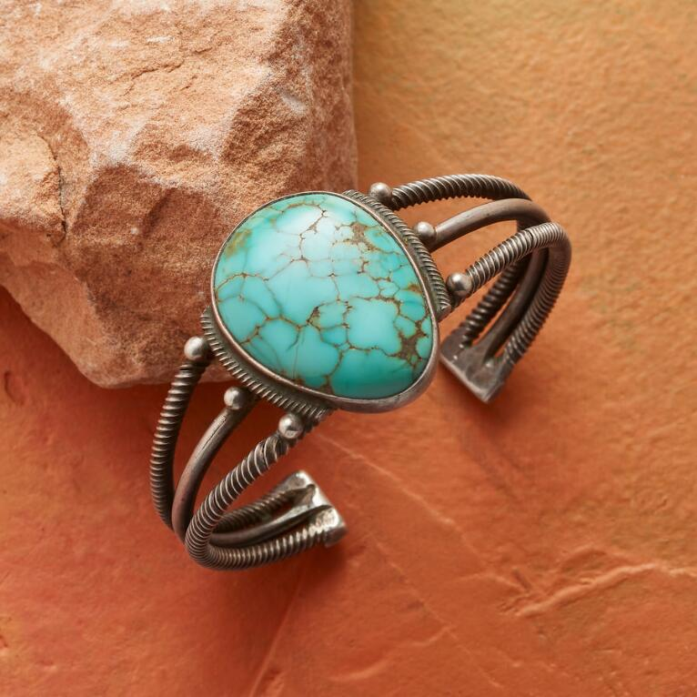 1950S NUMBER EIGHT TURQUOISE CUFF
