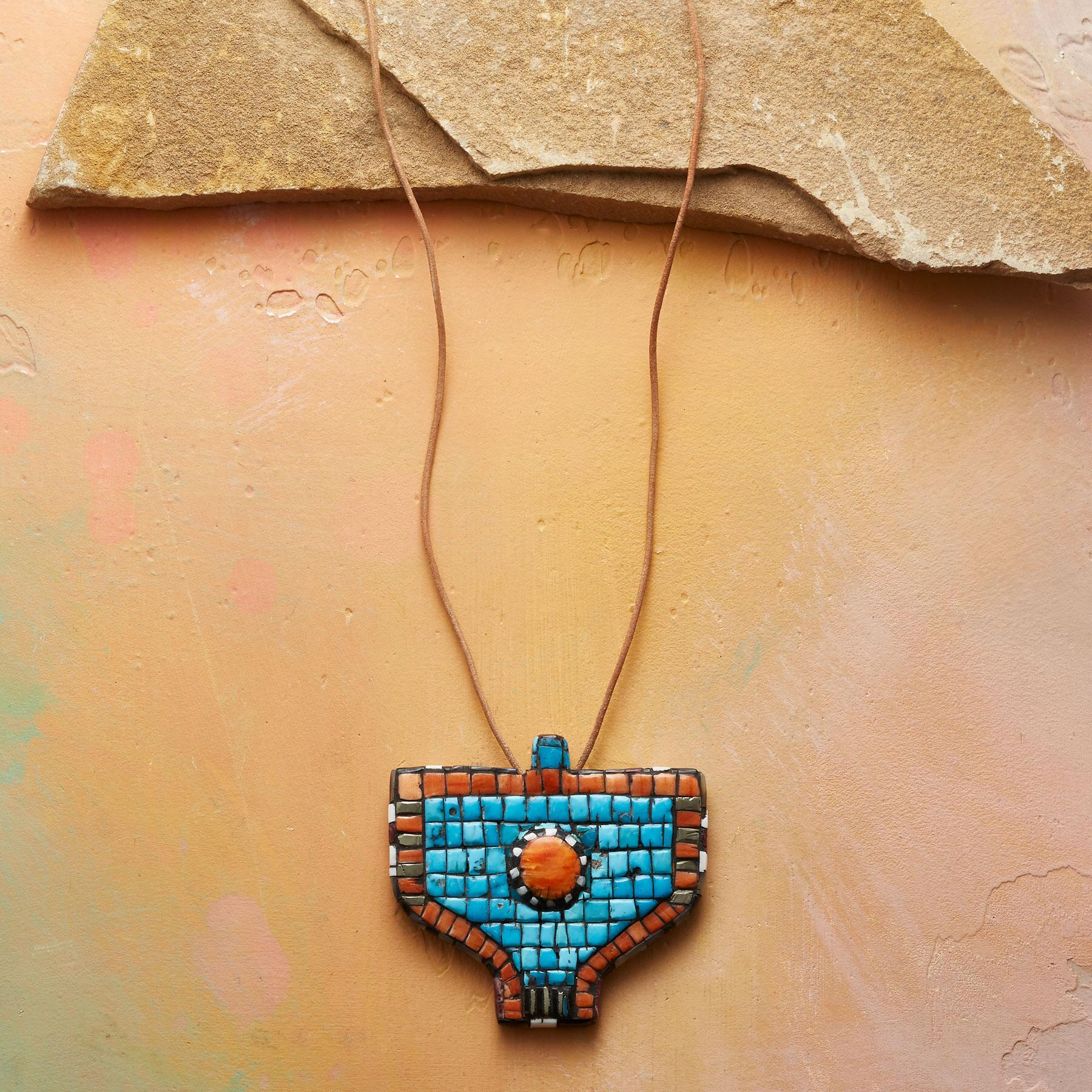 MOSAIC THUNDERBIRD NECKLACE: View 1
