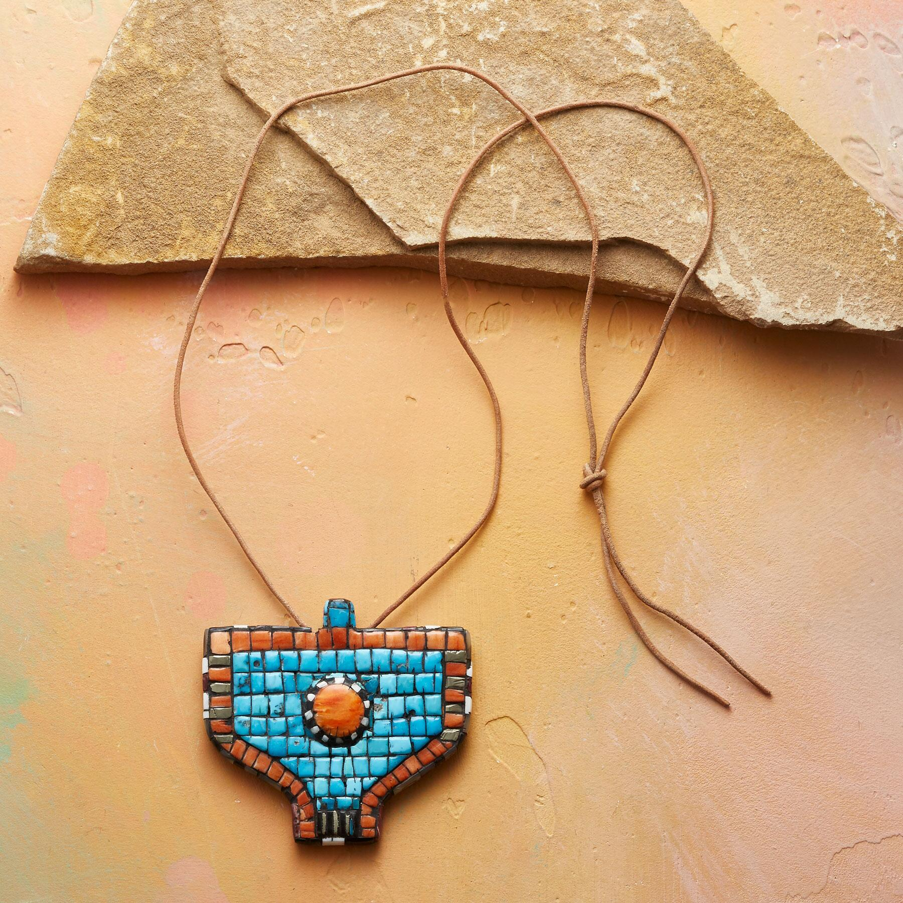 MOSAIC THUNDERBIRD NECKLACE: View 2