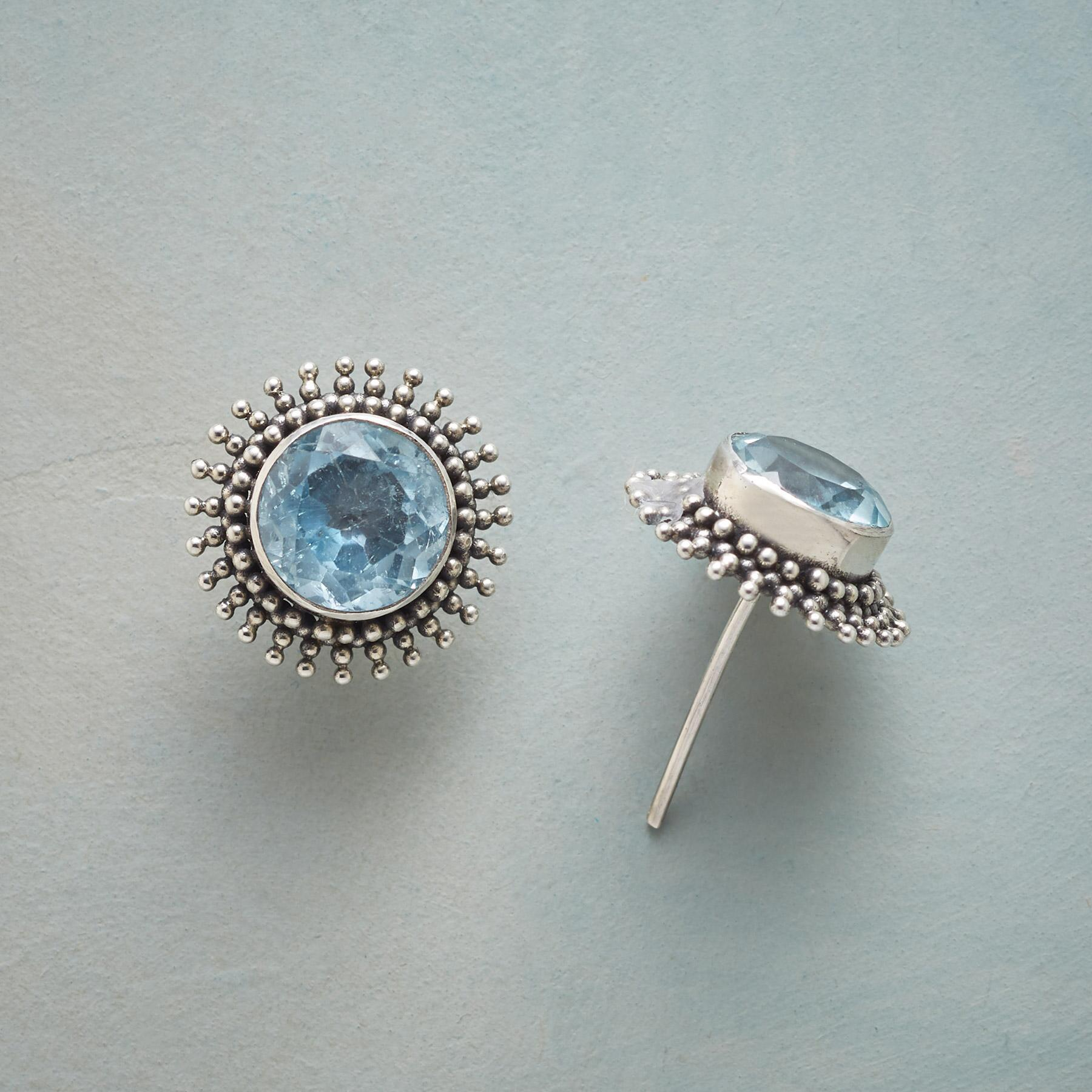 BLUE SHIMMER EARRINGS: View 1