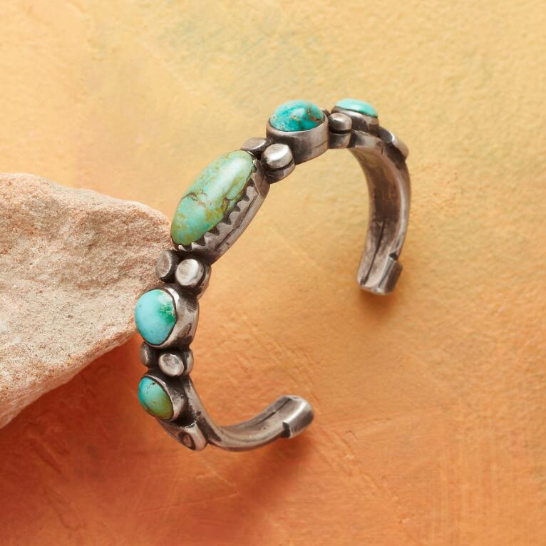 TURQUOISE STEPPING STONE CUFF