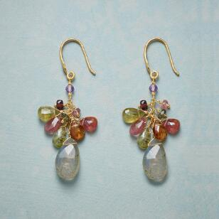 MULTISTONE CASCADE EARRINGS