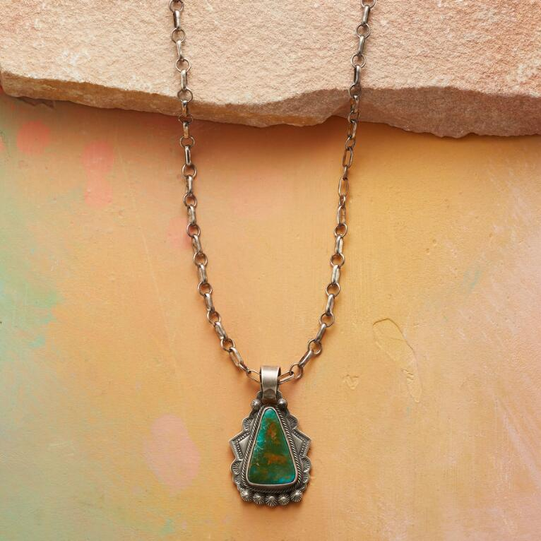 AL SOMERS TURQUOISE TEMPLE NECKLACE