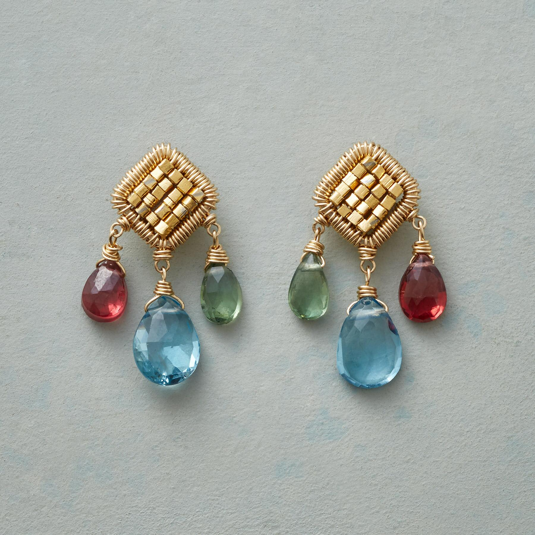 CUBED GEMS EARRINGS: View 1