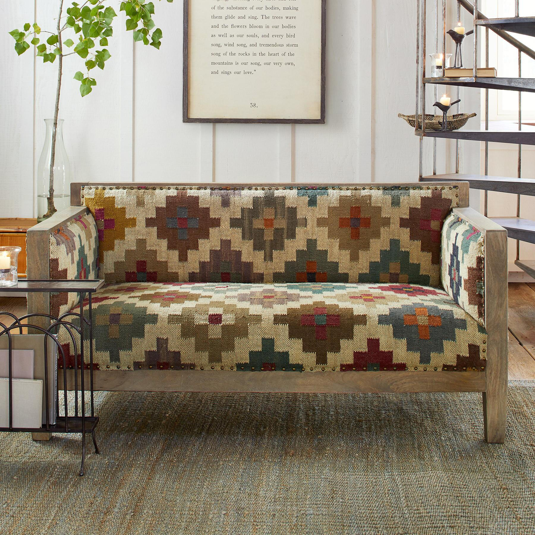 SOLAMERE KILIM LOVESEAT: View 1