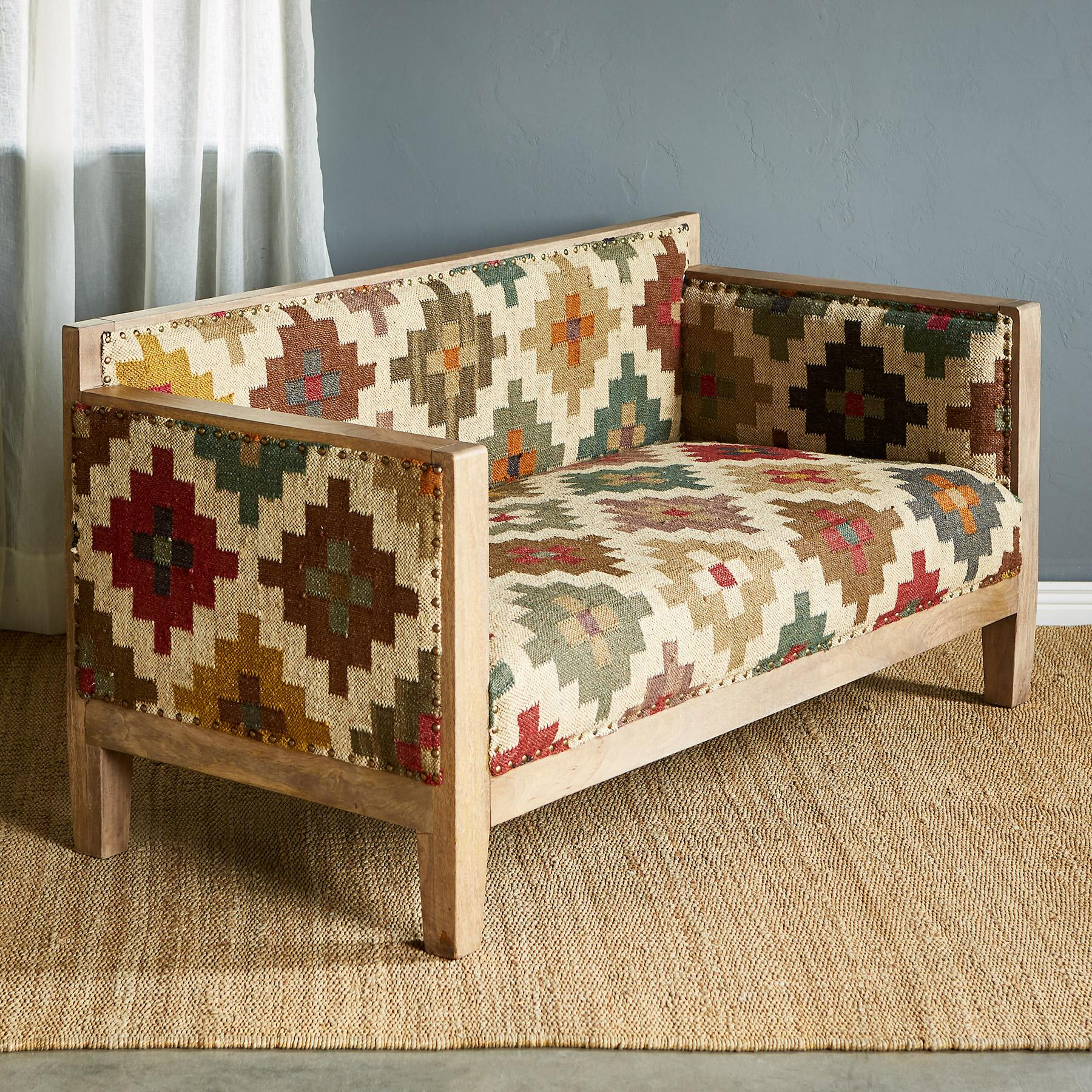 SOLAMERE KILIM LOVESEAT: View 2