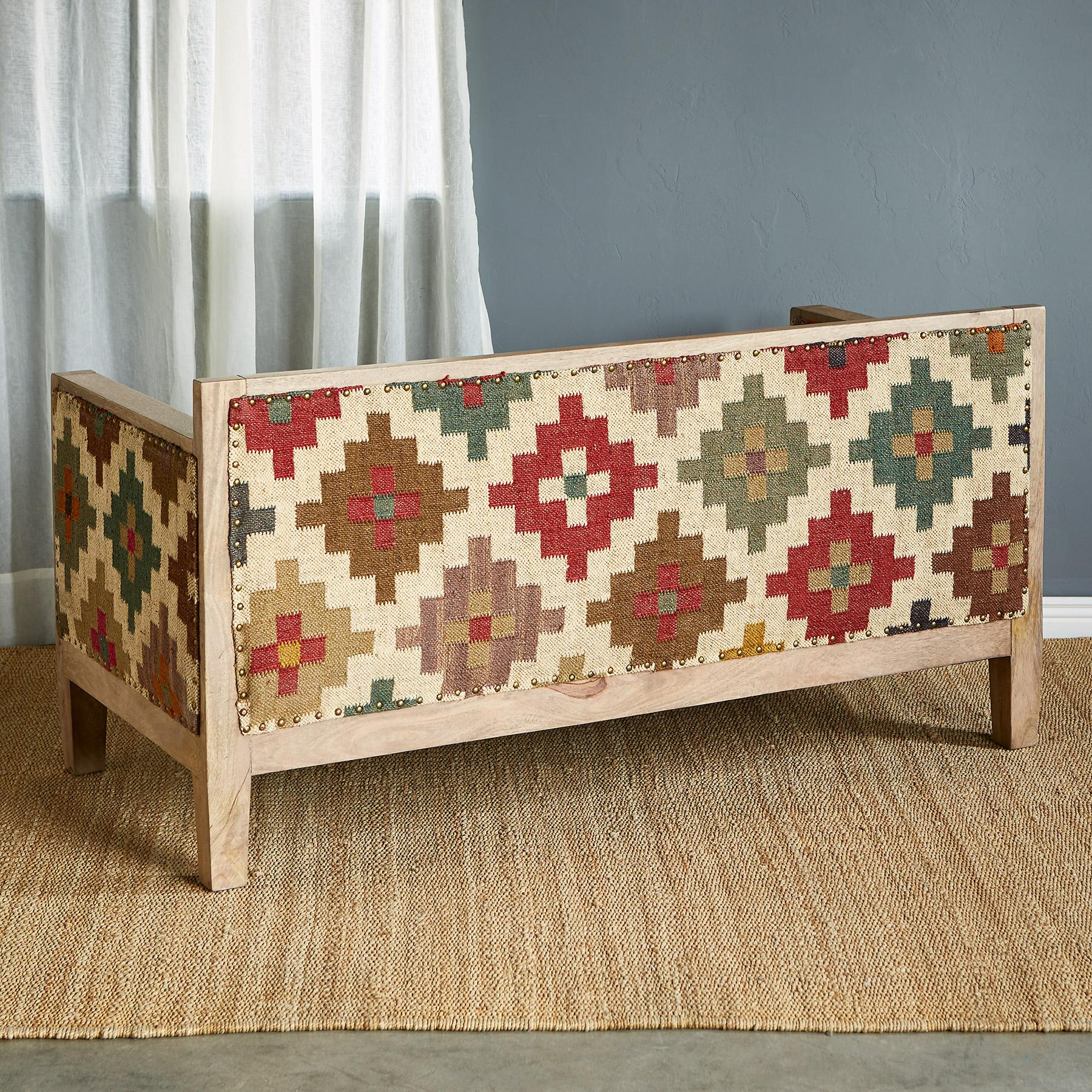 SOLAMERE KILIM LOVESEAT: View 3