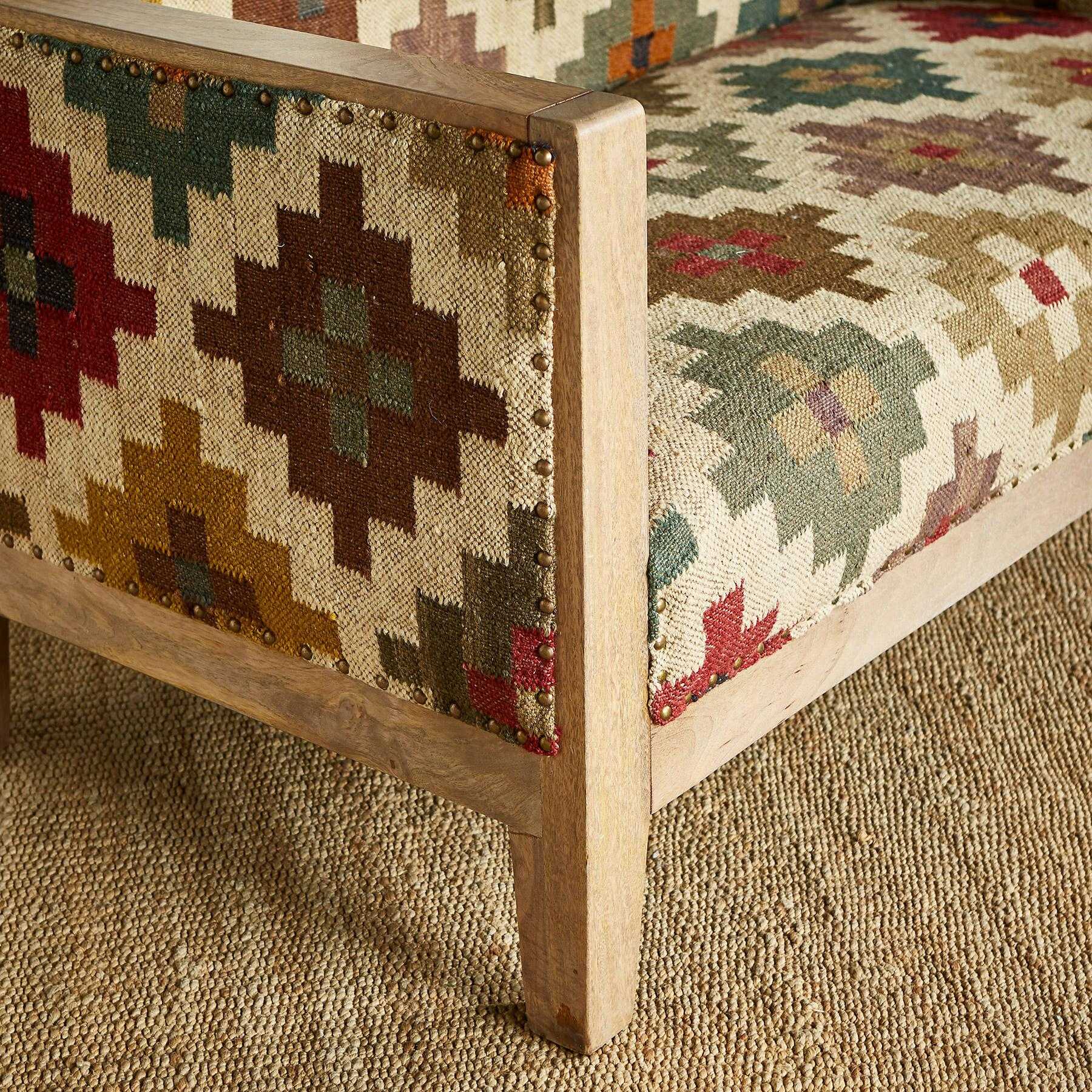 SOLAMERE KILIM LOVESEAT: View 4