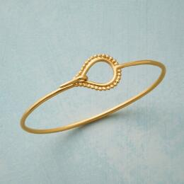 CHARMED GOLD PLATE BANGLE