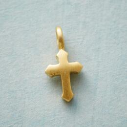 CHARMED GOLD PLATE CROSS