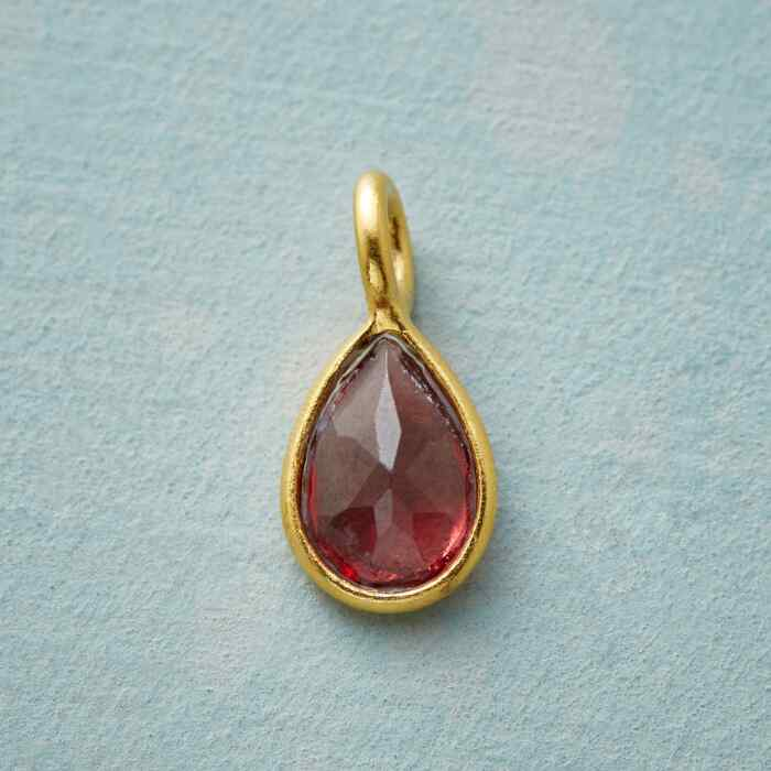 GOLD PLATE CHARMED BIRTHSTONE