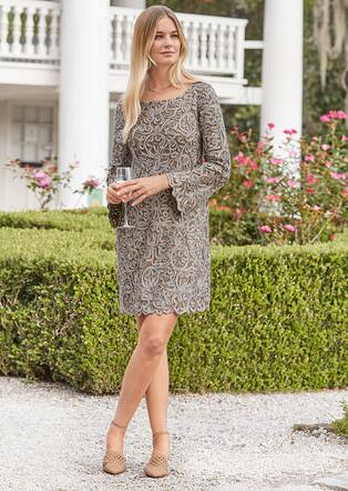 PURE ELEGANCE SHIFT DRESS