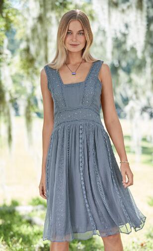 JOLI EMBROIDERY DRESS