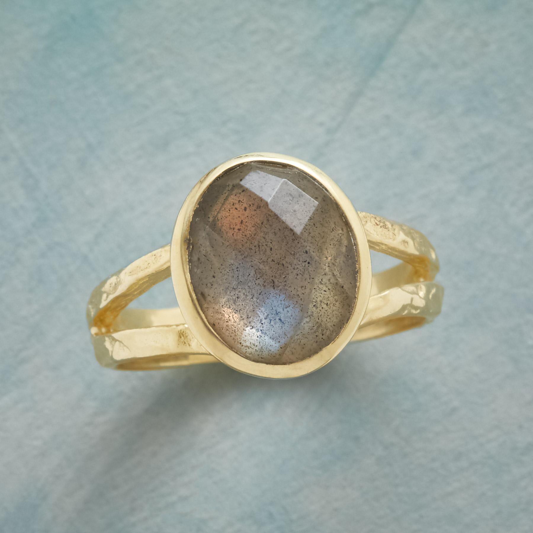 LABRADORITE LIGHT SHOW RING: View 1