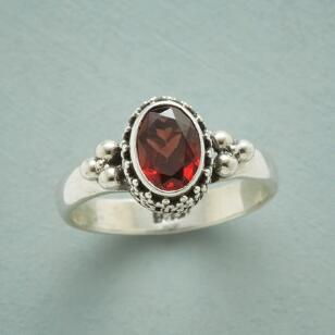 GRANULATIONS GARNET RING