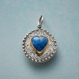 HEART OF LAPIS CHARM