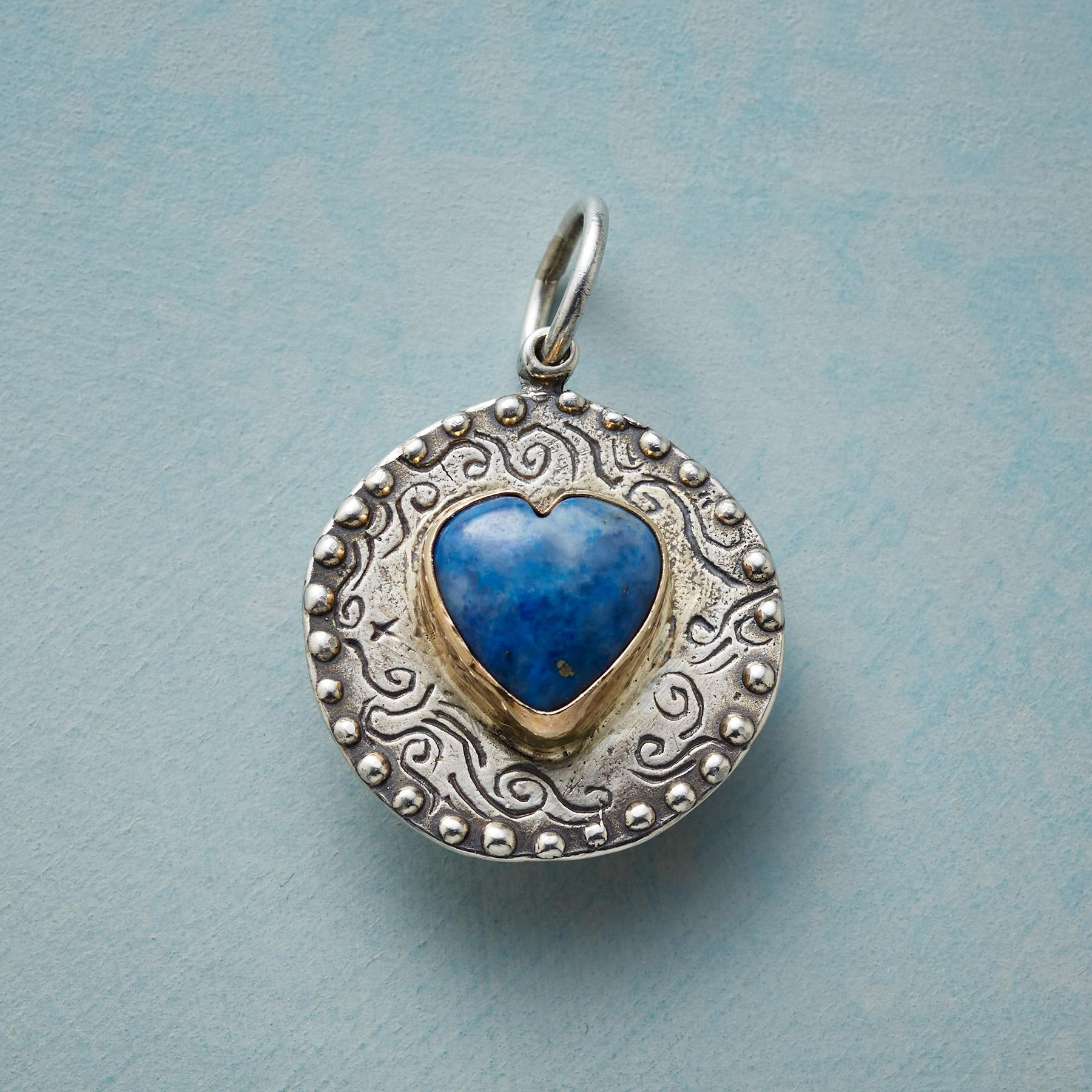 HEART OF LAPIS CHARM: View 1