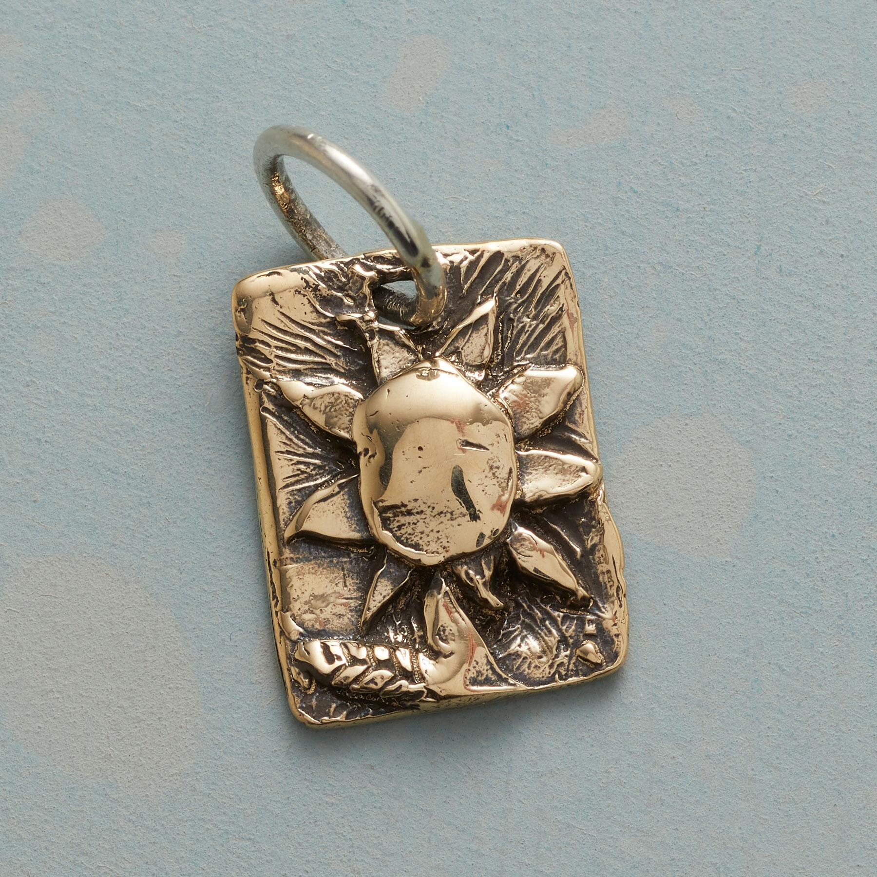 GOLD SUNNY FLOWER CHARM: View 1