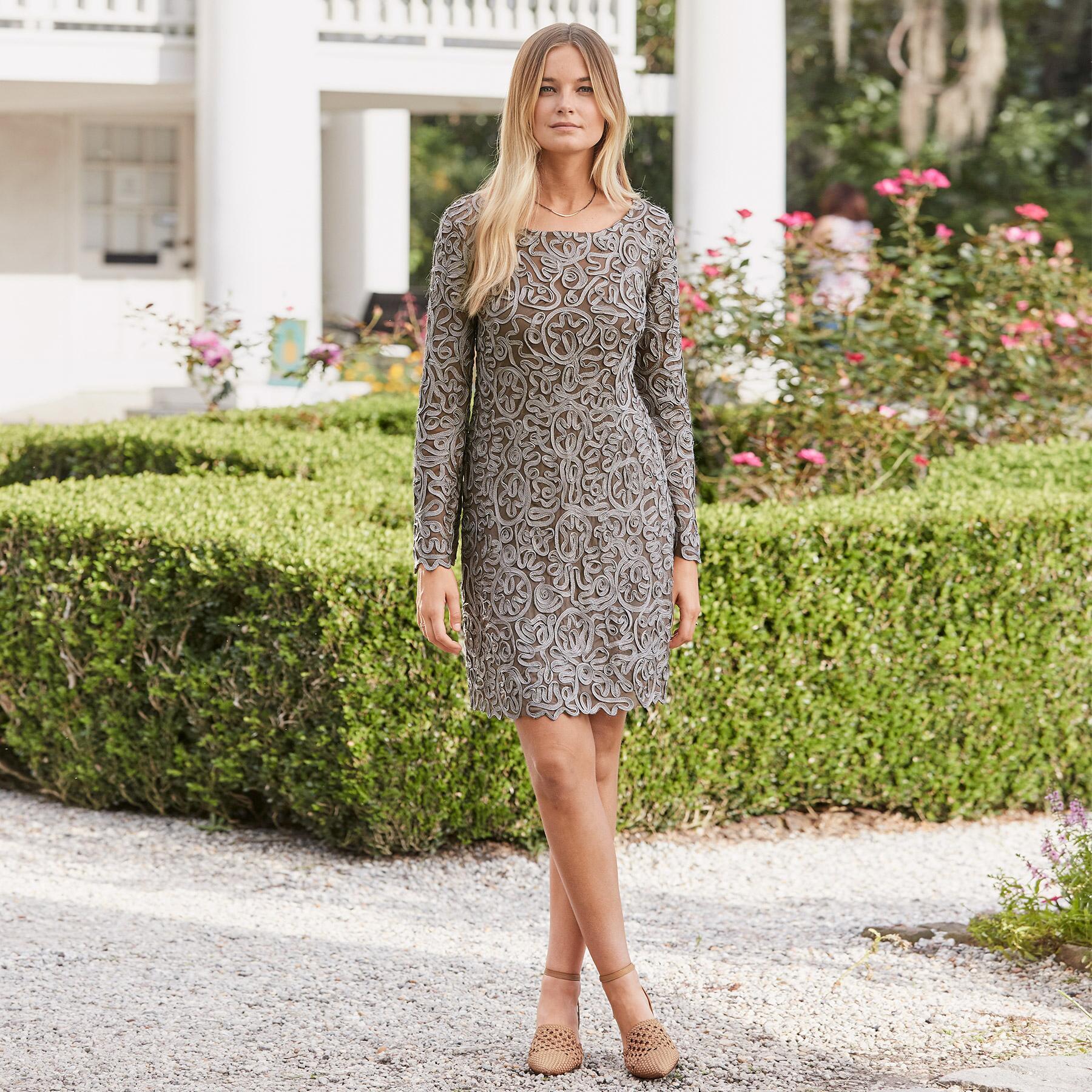PURE ELEGANCE SHIFT DRESS PETITE: View 2