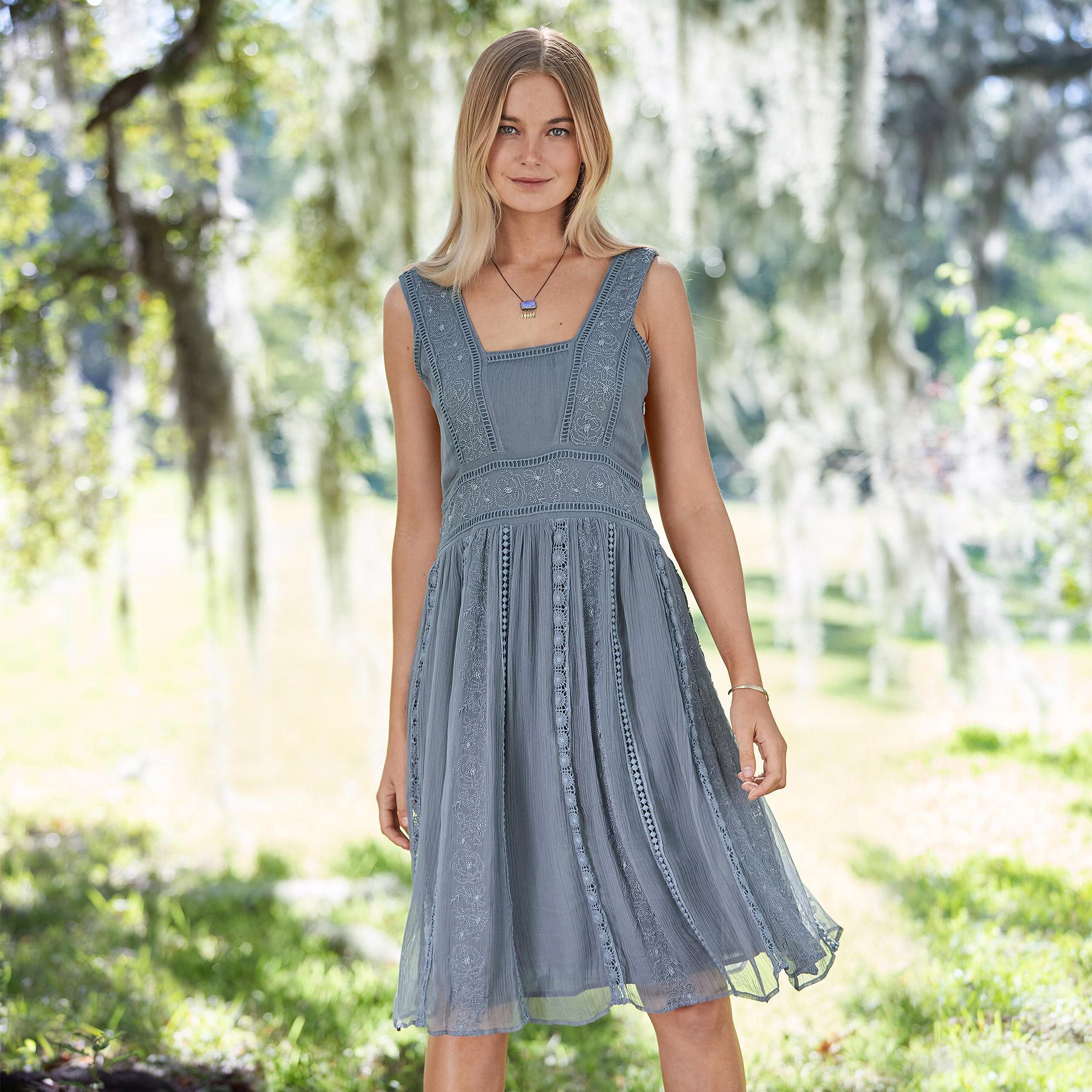 JOLI EMBROIDERY DRESS PETITE: View 1