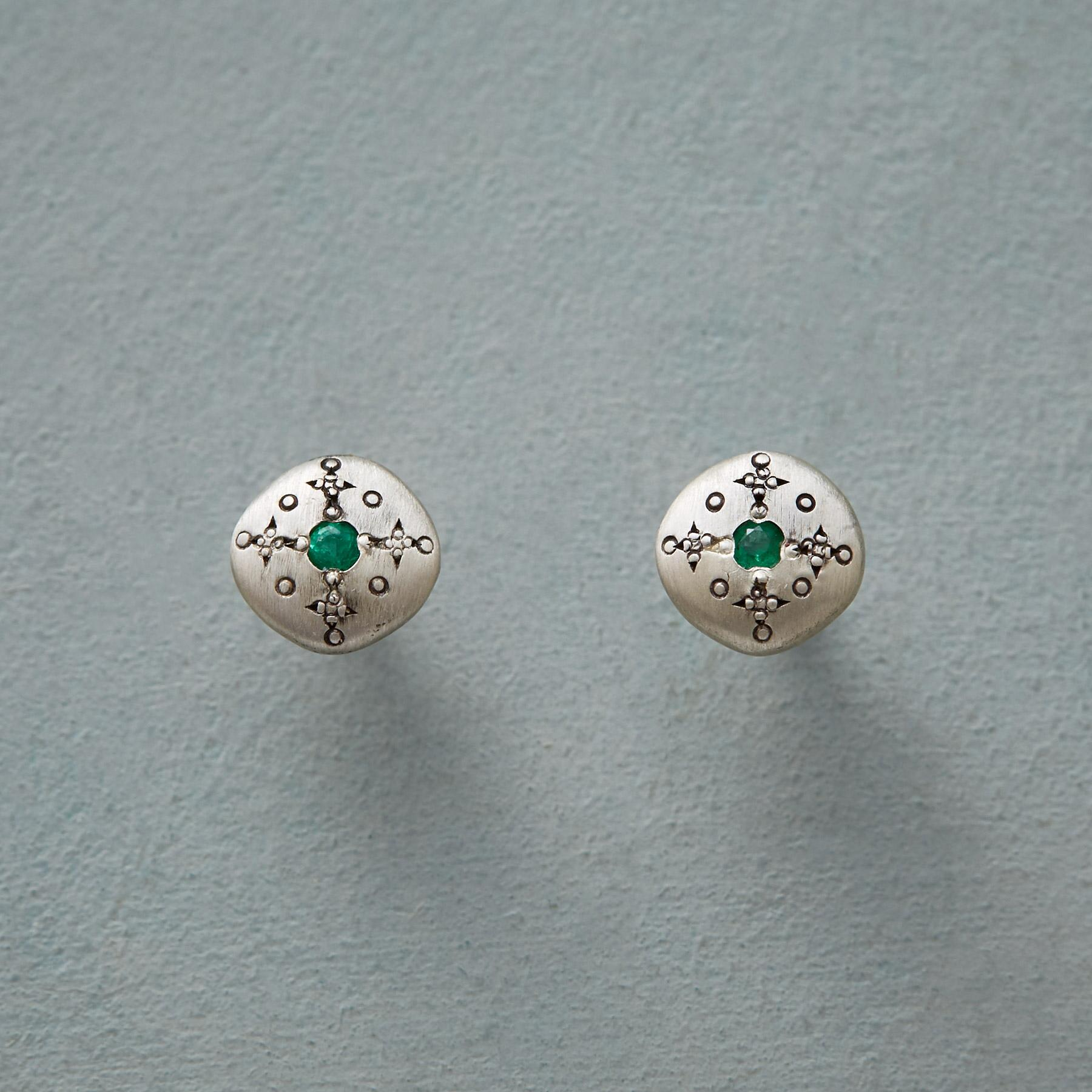 EMERALD MOONDROPS & SPARKLE EARRINGS: View 1