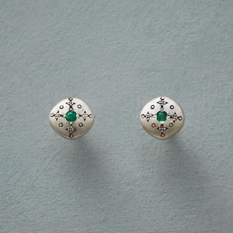 EMERALD MOONDROPS & SPARKLE EARRINGS
