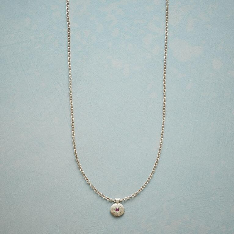 RUBY MOONDROPS & SPARKLE NECKLACE